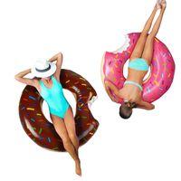 Hayat Yelek Şamandıra Yüzme Halkası Donut Şekli Kalınlaşmak Havuz Şamandıra Yaz Açık Yüzmek Plaj Partisi Yetişkin Çocuklar Daire