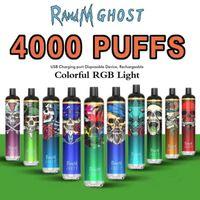 Einweg-Vape 4000 Puffs Randm Ghost Wiederaufladbare E-Zigaretten 650mAh-Batterie 8ml Vorgefülltes Pods-Gerät