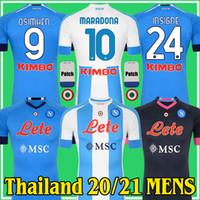 20 21 Maillots Napoli Fouth Trip To Diego Maradona 축구 유니폼 Camiseta 나폴리 2020 2021 Insigne Mertens H.Lozano 축구 셔츠 키트