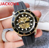 factory mens automatic mechanical watches 40mm gear skeleton dial designer watch rubber silicone buckle waterproof wristwatch montre de luxe