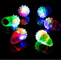 Flashing Bubble Ring Rave Party Blinking Soft Jelly Glow Cool Led Light Up Silicone Cheer Prop Cheer Prop Finger Lamp