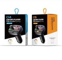 C12 C13 C14 C15 Светодиодная подсветка VR Robot FM передатчик Bluetooth 5.0 автомобиль MP3-плеер беспроводной автомобильный комплект автомобиля громкой связи QC3.0 + 18W PD зарядное устройство