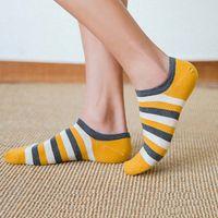 Women Socks Print Harajuku Street Style Cotton Short Socks Female Casual Funny Ankle Yellow Socks Sox Summer 2021