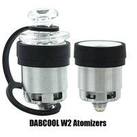Authentic Dabcool W2 ENAIL Atomizer Hookah Cera Concentrado Bobina Budder Dab Rig Vape Kit com 4 Configurações de Calor Longo Durador 100% Genuíno