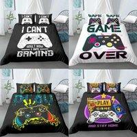 Cobertura de edredão 3D Adolescentes Gamer Gamer set para crianças meninos meninas cama gamepad impresso com travesseiro presentes Xmas Duplo