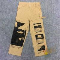 Travis Scott Cactus Jack Cargo Work Pants Men Women Joggers Drawstring Sweatpants Trousers Hip Hop Cargo Pants