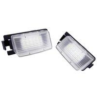 1 par del coche LED LED placa luces Número de lámpara de placa para Nissan Tiida Livina Versa para Infiniti Nissan Skyline V36 G35 G37 350Z