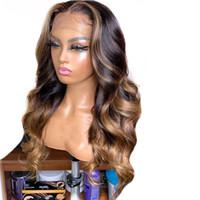4 27 أومبير تسليط الضوء شعر الإنسان الباروكة براون العسل شقراء اللون 13x6 الرباط الجبهة الباروكات للنساء السود البرازيلي الجسم متموج ريمي الشعر
