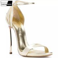 Dress Shoes Plus Size 34-45 Runway Fashion Women Stiletto High Heels Sandals Party Wedding Bridal Golden Silver Peep Toe Ladies Pumps