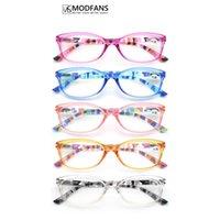 Modfans Femmes Glases pour lecteur Lecture Lunettes de lecture coloré Ovale Spring Spring Spring Lightweight Beglasses confortable