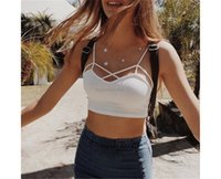 Crop Women Bustier Summer Tops Style Strap Tank Cross Halter casual Tees Female Solid Color Modal Vest Camis Short Tank Tops