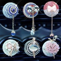 Interior Decorations Crystal Pendant Car Perfume Clip Fragrance Air Conditioner Outlet Clamps Rhinestone Solid Decoration Accessories G