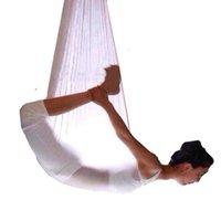공중 요가 해먹 5m 탄력있는 스윙 다기능 반 중력 요가 훈련 벨트