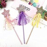 Star Sequins Fairy Wand Magic Stick Girl Party Princess Favors Födelsedagspresent Karneval Bröllopsdekoration Baby Shower Easter Present