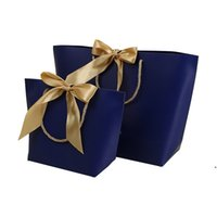 12 Farben Papiergeschenke Taschen Handtasche Pure Farbe Kleidung Schuh Schmuck Einkaufstasche Geschenk Wrap Recycelbar für Verpackung GWB5300