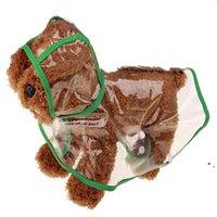 Cachorrinho transparente Rain Wear Cão Vestuário Universal À Prova D 'Água Roupas para Verão Primavera Com Capuz Pet Rain Rain Cool BWEE5092