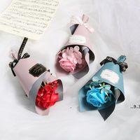 NewFactory Wholesale Creative Single Rose Soap Soap Flower Día de la Madre Mini Bouquet Regalo de regalo de regalo Ewa4349