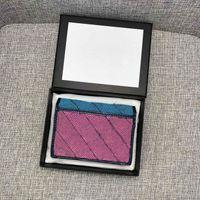 Diseñador de lujo Multi Color Plegable Billetera corta Cambio de alta calidad Cambio de crédito Monedero Bolsillo Bolsillo