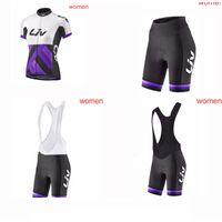 Liv Team Womens Велосипедные Шорты с короткими рукавами Шорты Джерси Дышащие Дышащие велосипедные Топы 3D Гель Pad Наборы Шорты S73032