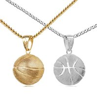 Basketball Gold and Silver Pendants Stainless Steel Necklaces Jewelry Sports Pendants Jewelry Factory Wholesale DFF4446