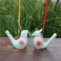 Creative Water Bird Whistle Clay Birds Ceramic Glazed Song Chirps Bathtime Kids Toys Gift Christmas Party Favor 2181 V2