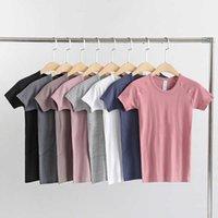 Lulu original short sleeve women's tight Pilates Yoga Top quick drying fitness clothes T-shirt running summer thin