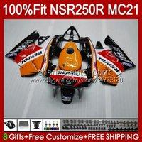 OEM-Injektion für Honda NSR250 NSR 250 R MC21 PGM3 NSR250R 90 91 92 93 103HC.7 NSR 250R NSR250RR 1990 1991 1992 1993 Repsol Orange-Verkleidungen