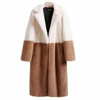 Moda inverno mulheres jaqueta de pele 5xl plus size solto longo sobretudo de alta imitação de lã de cordeiro espessura quente casacos g056 210906