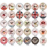 12 cm Relojes de pared Reloj de madera Artesanía Reloj de madera Sala de estar Decoraciones para el hogar Reloj de pared DWA4129
