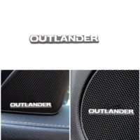 Araba Çıkartmaları 3D Alüminyum Amblem İç Hoparlör Ses Rozeti Mitsubishi Outlander 3 4 2020 2019 2021 Aksesuarları