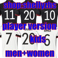 2021 2022 Kimmich Deutschland Fussball Jersey Havertz Sane Hummels Kroos Gnabry Werner REUS Muller Cup Match Home White Away Black Football Hemd Männer + Kinder