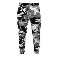 Men's Jeans Camouflage Style Men Jogger Pants Military Slim Fit Pocket Cargo Hip Hop Trousers Waistline Pencil