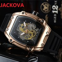 USA fashion trend Montre Homme Silicone Quartz watch 43mm mens Two needle series All dials work Famous Waterproof Sports Luxury Men Watches Reloj hombre