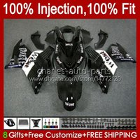 OEM Injection For KAWASAKI NINJA ZX14R ZZR-1400 ZX 14R 14 R ZZR1400 06-11 Body 4No.24 ZX-14R 06 07 08 2009 2010 2011 ZZR 1400 CC 2006 2007 2008 09 10 11 Fairing Black west blk