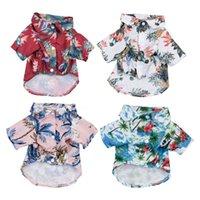 Ropa para perros de mascotas Estilo Hawaiian Summer Beach SHIRTS VESTIDO Ropa para mascotas Camiseta floral para pequeño perro grande Chihuahua