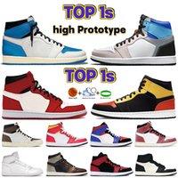 Top 1 1S Zapatos de baloncesto Alto Prototipo Oxiones Sombra Cactus Militar Militar Azul BRED FRAZÓN RED HOMBRES Sneakers Mujeres Entrenadores US 5.5-12