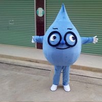 Performance Blue Teardrop Mascot Costume Halloween Christmas Fancy Party Cartoon Character Outfit Suit Adult Women Men Dress Carnival Unisex Adults
