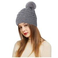 BERETEN E Outdoor Winter Erwachsene Neutral Halten Sie Warme Hairball-Hüte Plüsch gestrickt Wollhut süß und reizend, bequem