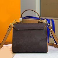 النساء حقيبة كروسبودي الطباعة المغلفة قماش حقيبة يد السيدات رفرف حقائب الكتف الجلود مفتاح المشبك جودة عالية القديمة زهرة محفظة