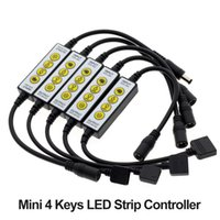 Controlador de tira de LED 4KEY para un solo color / doble blanco / RGB / RGBW / RGB + CCT LED Control de tiras