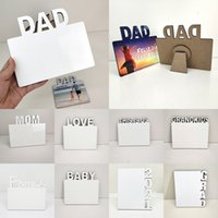 Sublimation Blanks Album Anglais Alphabet DIY Album Décorations de la maison Love / Maman / Famille / 2021 Cadres XD24543
