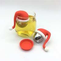 Silicone Chapéu de Natal Chá Infusor Filtro Ferramentas Difusor Forma Teas Saco Maker Infusores Presente Filtro Projeto Criativo Alta Temperatura Resista