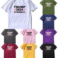 S-3XL Trump 2024 Maga Camiseta Elección presidencial porque América nunca puede ser un gran sudor de la camisa diseñadores Tshirts Sport Tee Top G3303