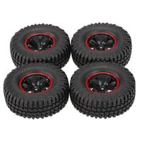 Pack of 4 1.9 Inch 1 10 Scale 103mm Tires with Wheel Rim for 1 10 TRX4 D90 SCX10 CC01 RC Rock Crawler H1013