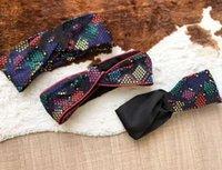 Bandeau de Yoga Turban de la soie élastique de soie pour femme Dot Star Imprimer Tête Écharpe Cross Sport Cheveux Bands Tête Écharpe Cadeau Cadeaux