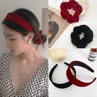 Women Velvet Headband Wide Hair Hoops Fashion Black Red Hair Bands Solid Colors Head Bezel Girls Headdress for Hair Accessories