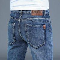 İlkbahar Sonbahar 2021 erkek Akıllı Kot İş Moda Düz Düzenli Mavi Streç Denim Pantolon Klasik Erkekler Artı Boyutu 28-40