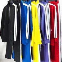 21SS Nya Mens Womens Tracksuits Sweatshirts Passar Kläder Män Track Sweat Suit Coats Man Designers Jackor Hoodies Byxor Sweatshirt