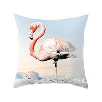 Almofada / descanso decorativo Ins flamingo bonito desenho animado carro sofá cintura almofada lance de cadeira de cadeira de cadeira de casos domésticas gi