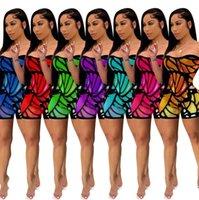 Verão Mulheres Impresso Apertado Sexy Jumpsuit Sem Mangas Moda Moda Dia das Mães Senhoras Calças Siamese Calças de One-Peça Shorts Roupas HH32Layx